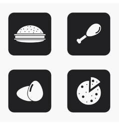 modern food icons set vector image