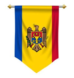 Moldova pennant vector