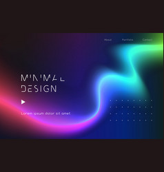 Moving colorful abstract background dynamic neon vector