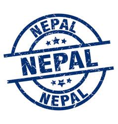 Nepal blue round grunge stamp vector