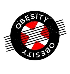 Obesity rubber stamp vector