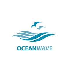 ocean wave logo royalty free vector image vectorstock