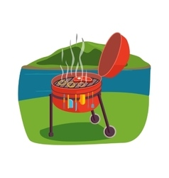 Outdoor grill vector