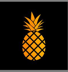 pineapple icon vector image