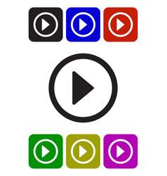 play video button vector image