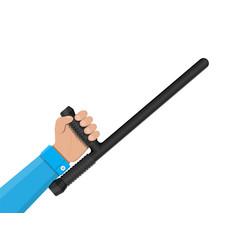 police baton or nightstick rubber truncheon vector image