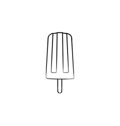popsicle hand drawn sketch icon vector image