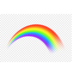 realistic rainbow with abstract particles vector image