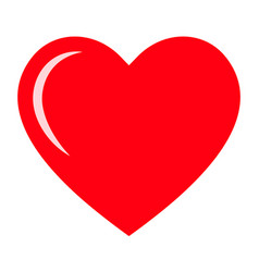red heart icon love icon vector image