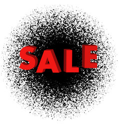 sale of 3 d lettering with black crumbling vector image