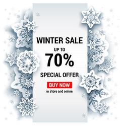 Sale winter template vector