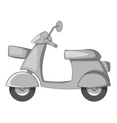 scooter motorbike icon monochrome vector image