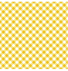 Seamless classic yellow table cloth texture vector