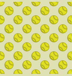 Seamless color tennis background vector