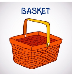 Shopping basket sketch icon vector