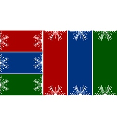 simple christmas or winter cards vector image