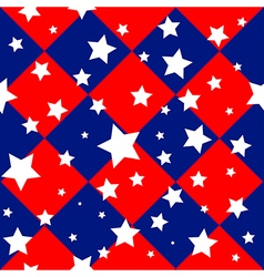 Stars USA Flag Diamond Chessboard Background vector image