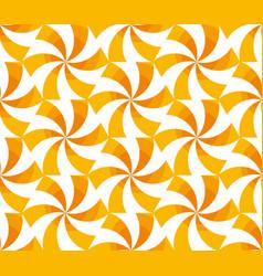 Sunny yellow spinning geometric seamless pattern vector