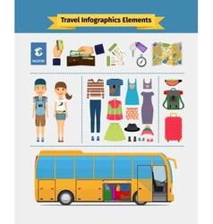 Travel infographics elements vector