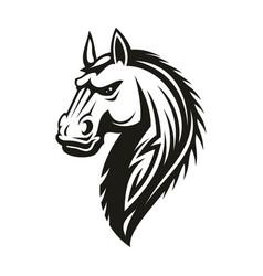 Tribal horse head mascot or tattoo vector
