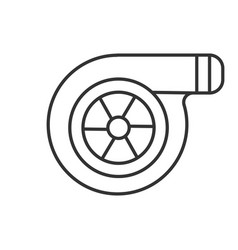 Turbocharger linear icon vector