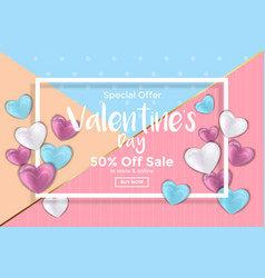 Valentines day card or sale banner vector