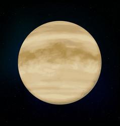 venus realistic planet vector image