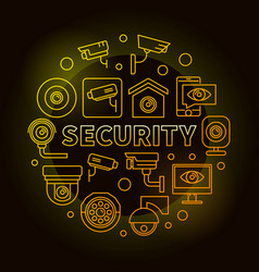 Yellow security round or vector