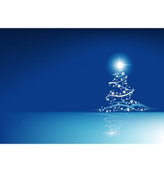 Blue Christmas Abstraction vector image vector image