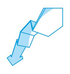 Decreasing arrow business vector