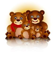happy bear family in harmony vector image vector image