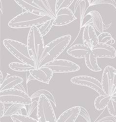 lilly pattern vector image vector image