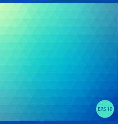 triangle background green-blue background vector image