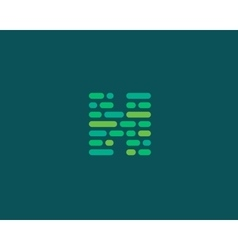 Abstract letter h logo dynamic code vector