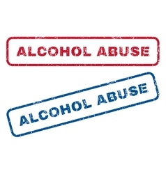 Alcohol abuse rubber stamps vector