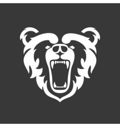 Bear Logo for sport club or team Animal mascot vector image