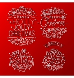 Christmas decorative red vector image vector image