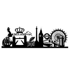 london - silhouette vector image