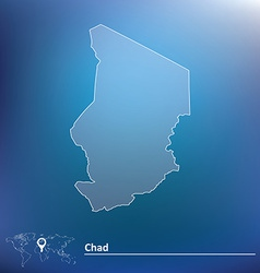 Map of Chad vector image vector image
