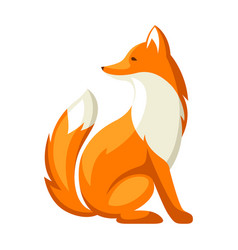 stylized of fox woodland forest vector image