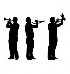 trumpeter vector image