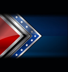 usa flag red blue color vector image vector image