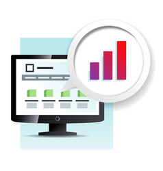 web page on the monitor icon vector image