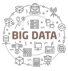big data linear vector image vector image