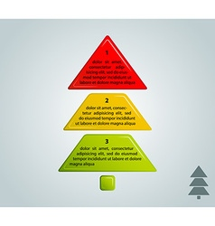 different colors christmas tree infographic style vector image