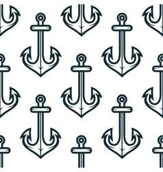 Old nautical ship anchors seamless pattern vector