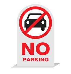 Sign On Parking Design vector image