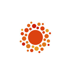 sun orange color abstract simple icon rounded vector image vector image
