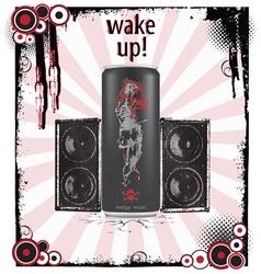 Wake-up art background vector image