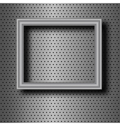 frame on metal vector image vector image